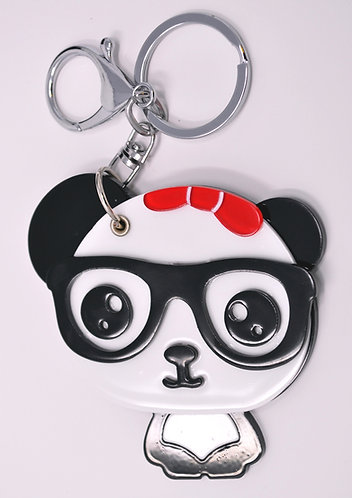 Mirror Keychain - Cute Nerdy Panda