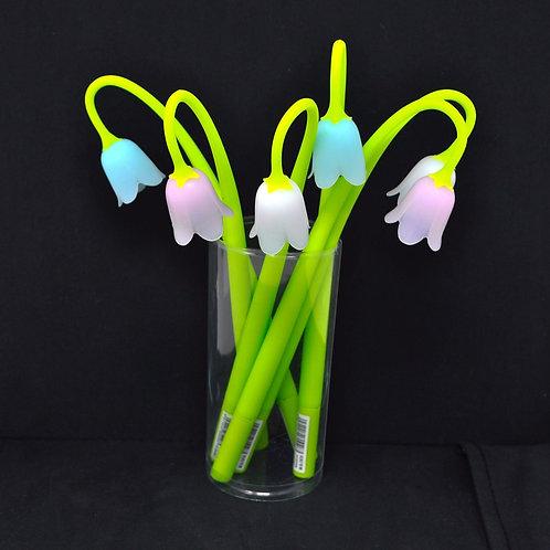Gel Pen - Tulip Flower - Black Ink