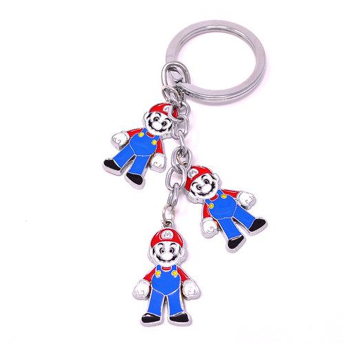 Triple Character Keychain - Nintendo - Mario