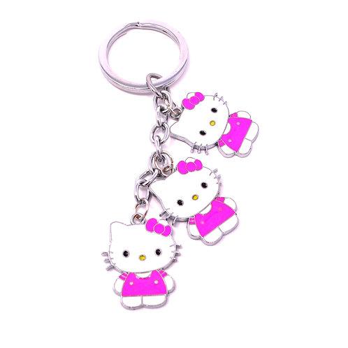 Triple Character Keychain - Hello Kitty
