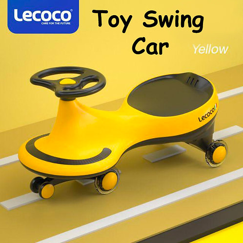 LECOCO SWING CAR W/ LED FLASHING WHEELS