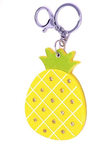 Mirror Keychain - Pineapple Fruit