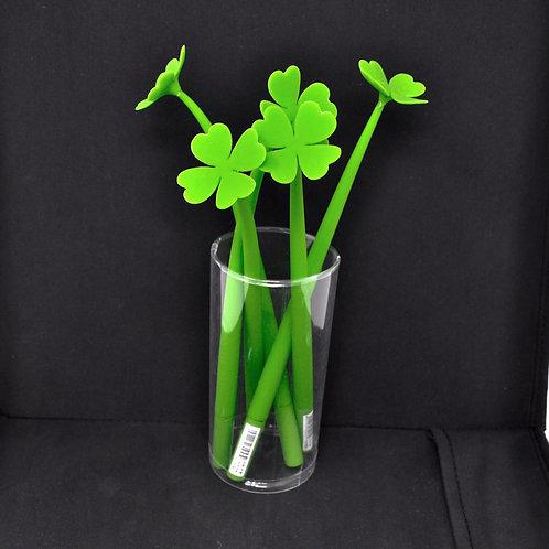 Gel Pen - Lucky Four Leaf Clover - Black Ink