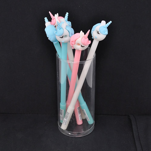 Gel Pen - Cute Boy & Girl Donut Unicorn - Black Ink