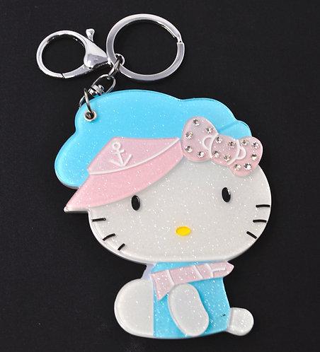 Mirror Keychain - Hello Kitty Dressed Nautical Theme
