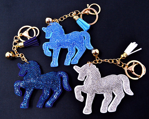 Handbag Charm Keychain - Bling Unicorn