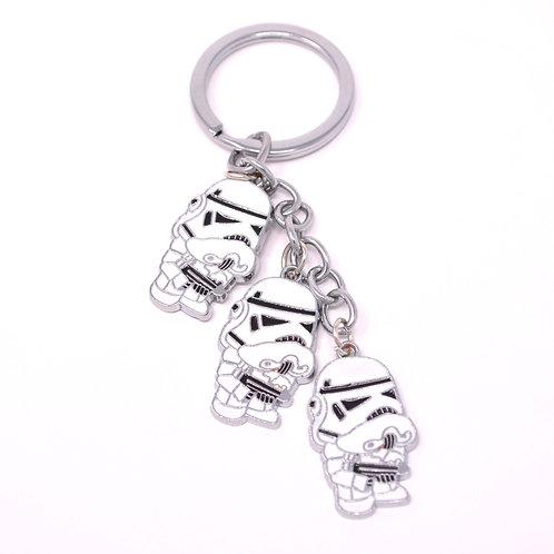 Triple Character Keychain - Star Wars - Storm Trooper