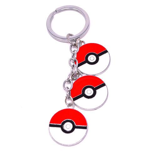 Triple Character Keychain - Poke Ball