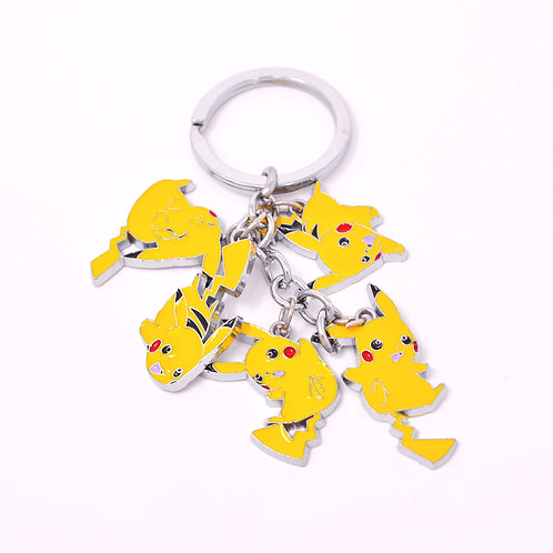 Character Keychain - 5 Pikachu Poses