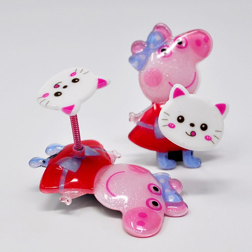 Kids Alligator Clip - Peppa Pig Spring Hair Clip - Kitty Cat (1PC)