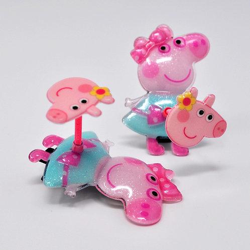 Kids Alligator Clip - Peppa Pig Spring Hair Clip - Peppa Pig (1PC)
