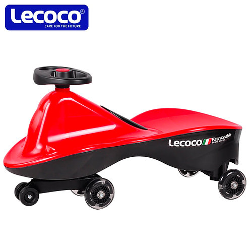 LECOCO SWING CAR W/ LED FLASHING WHEELS