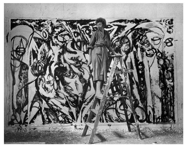 "Lee Krasner davanti a ""The Gate"""