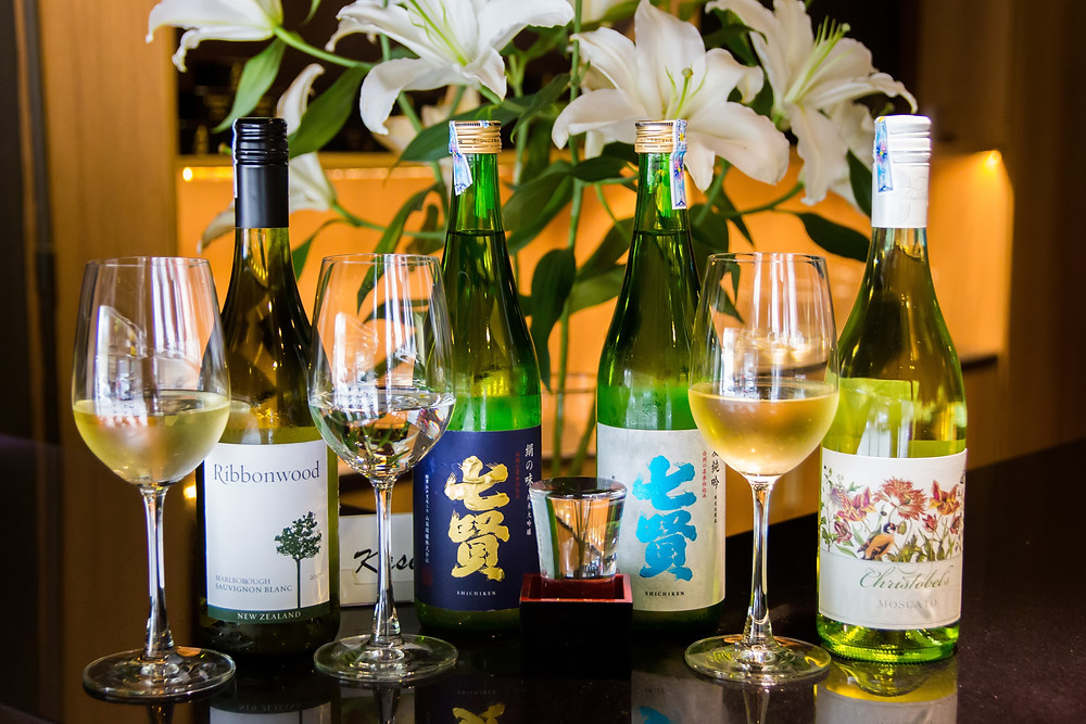 wine sake pairing moscato Sauvignon blanc shichiken