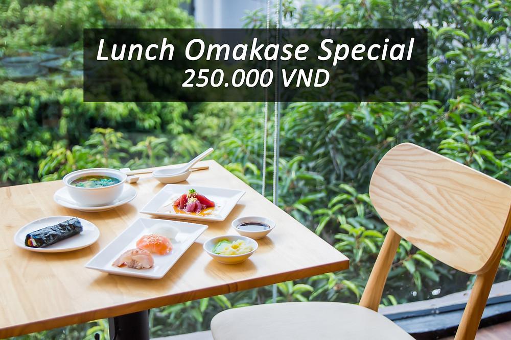 Kasen Lunch Omakase Special 250,000 VND