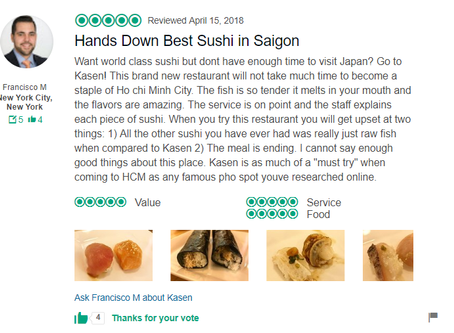 First TripAdvisor Review!