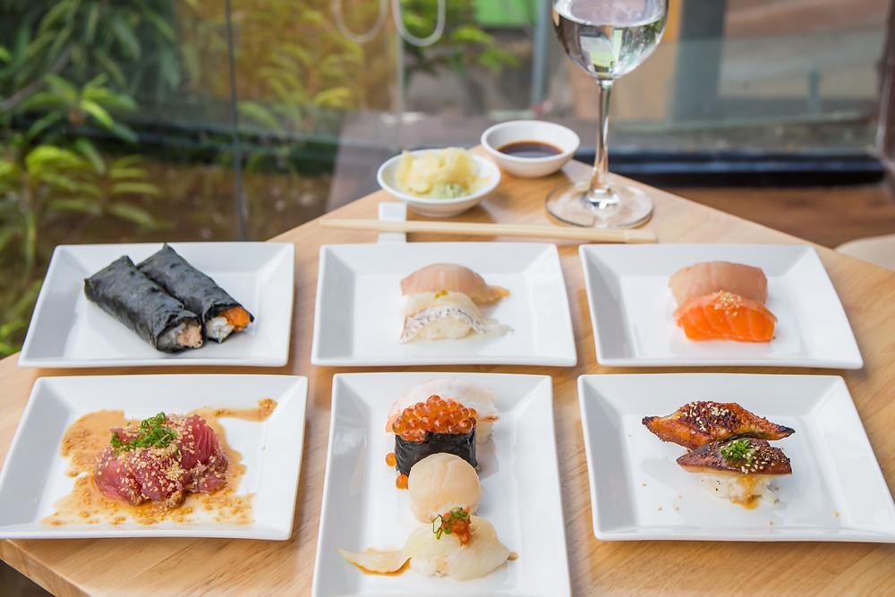 supreme omakase wine sake pairing sushi nigiri handroll sashimi