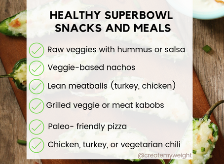Tips for a Healthier Super Bowl Sunday!