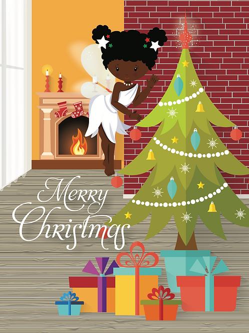 Merry Christmas Card (Puff Balls)