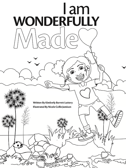 I am Wonderfully Made - Coloring Book