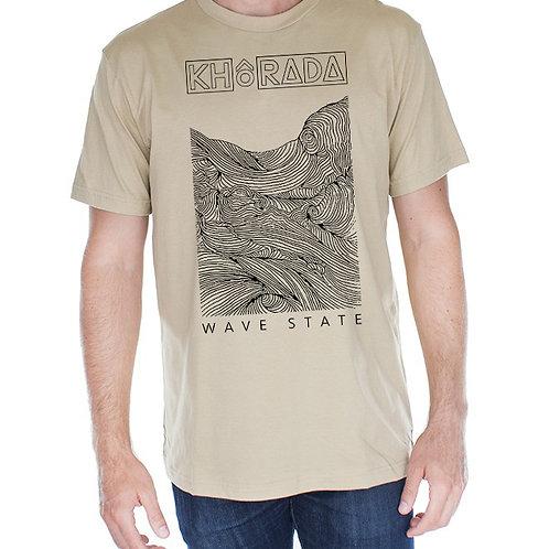 WAVE STATE beige tee