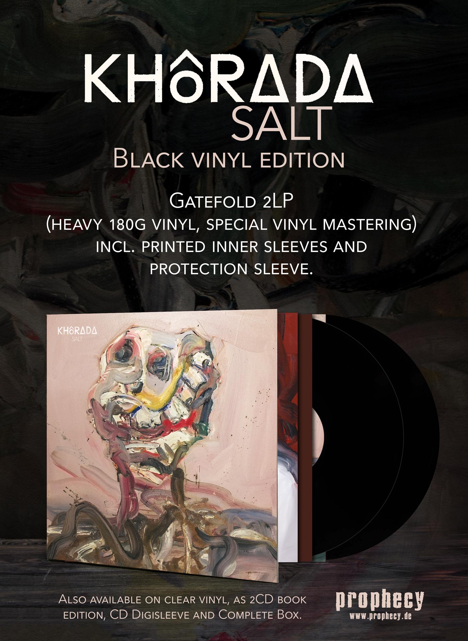 """KHôRADA """"SALT"""" black vinyl"""