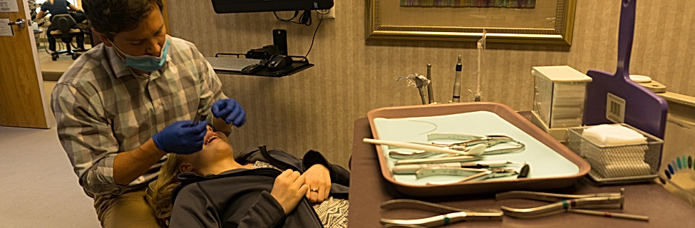 Dr. Blake Maxfied installing Invisalign