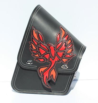 Custom swingarm bag for Harley-Davidson Softail Slim
