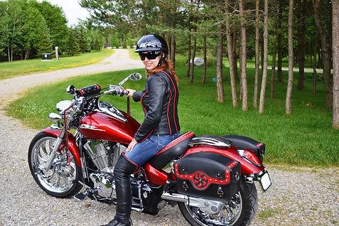 Honda VTX 1300 custom seat, sadllebags and handlebar pouch