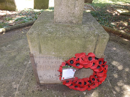 Wreath Collyweston War Memorial.JPG
