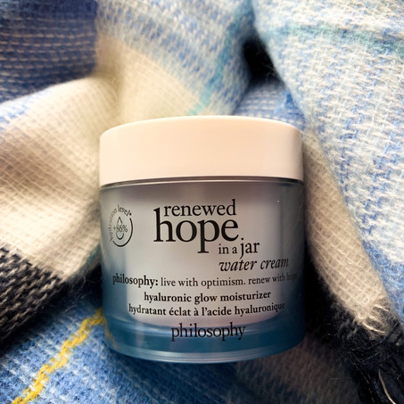 Philosophy: Renewed Hope in a Jar Water Cream
