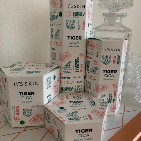Striking gold, or new porcelain skin: It's Skin USA Tiger Cica Collection