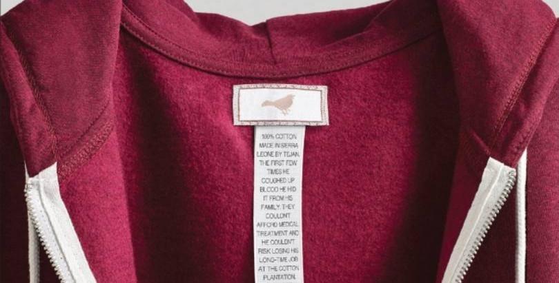 E se a etiqueta da sua roupa contasse como ela foi feita?