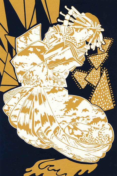 Gold Geisha screenprint