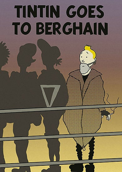 Tintin goes to Berlin poster