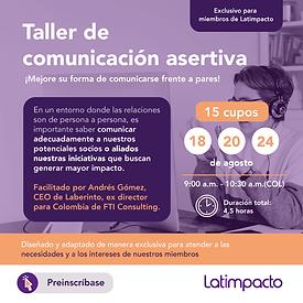Taller para comunicación asertiva (exclusivo para miembros)
