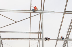 Iron Workers Build Second Deck