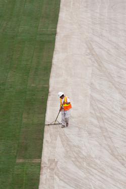 Laying Stadium Grass