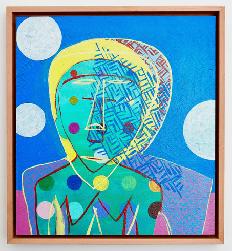 Mother 1 2020 Acrylic on canvas, framed 432mm H x 395mm W x 45mm D
