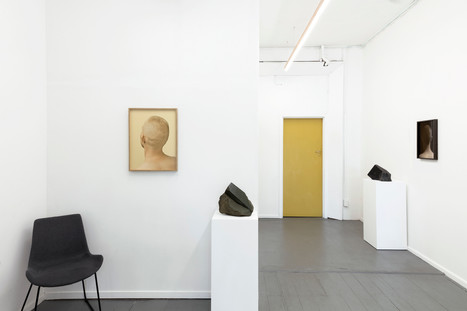 Installation view: Mineral + Male, 2019  Chauncey Flay (plinths) + Meighan Ellis (wall)  Image courtesy of Meighan Ellis