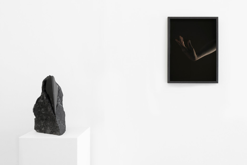 Installation view: Mineral + Male, 2019  Chauncey Flay (plinth) + Meighan Ellis (wall)  Image courtesy of Meighan Ellis
