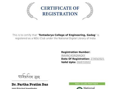 TCE Certified by NDLI Club