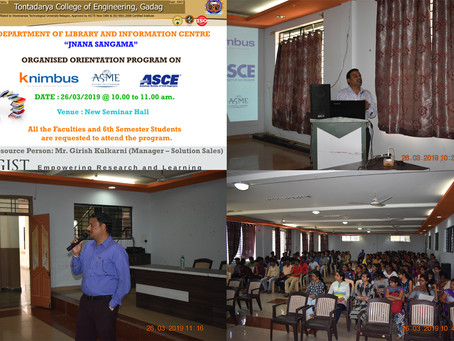Knimbus, ASME, ASCE Orientation program by Publisher.