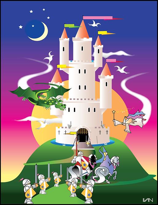Storybook Castle - 11x14inch Frame