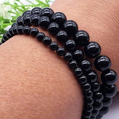 Black Agate Power Bracelet 4mm 6mm 8mm