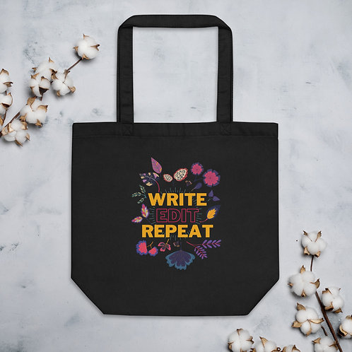 WRITE EDIT REPEAT Eco Tote Bag