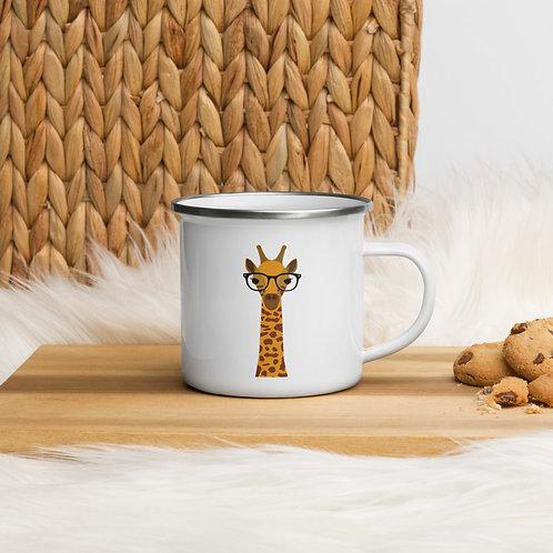 Giraffe Enamel Mug