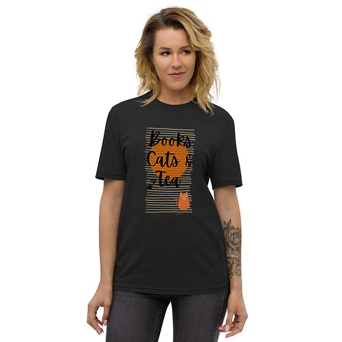 Books, Cats & Tea Recycled T-Shirt