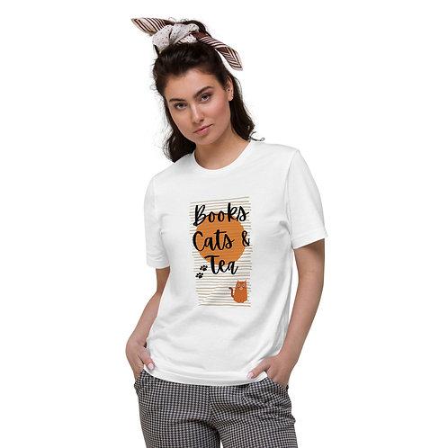 Books, Cats & Tea Organic Cotton T-Shirt