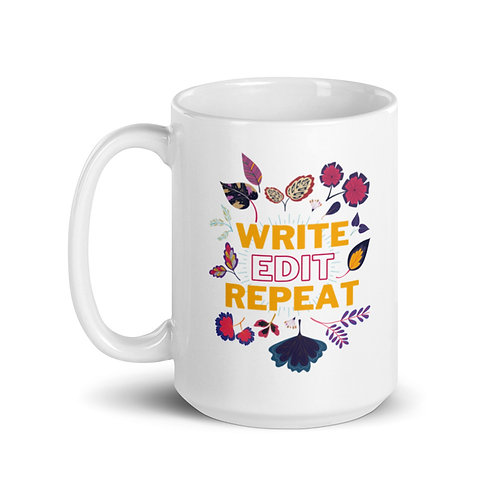 WRITE EDIT REPEAT Mug